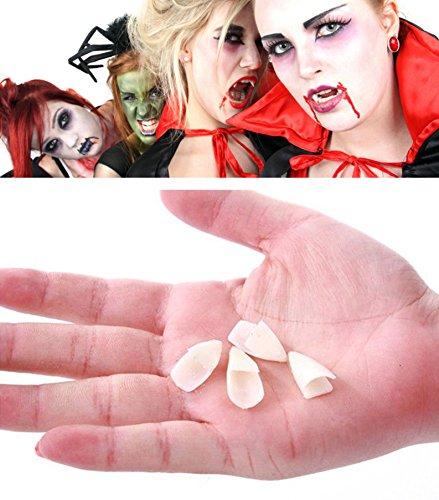 Fashionclubs 4pcs Halloween Dentures Prop Vampire Zombie Teeth - Deluxe Werewolf Fangs