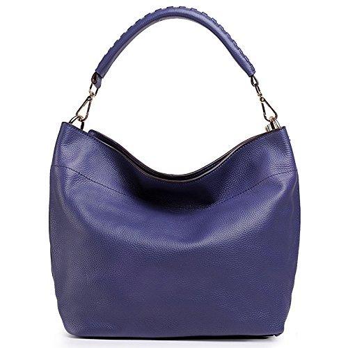 BG® Women's Large Shopper Cow Leather Shoulder Handbags