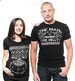 Christmas Couple T-Shirts Funny Ugly Christmas Sweater Tee Shirts Gift Couple Jingle Belly Couple Tees Maternity Tee Men XL - Women XL