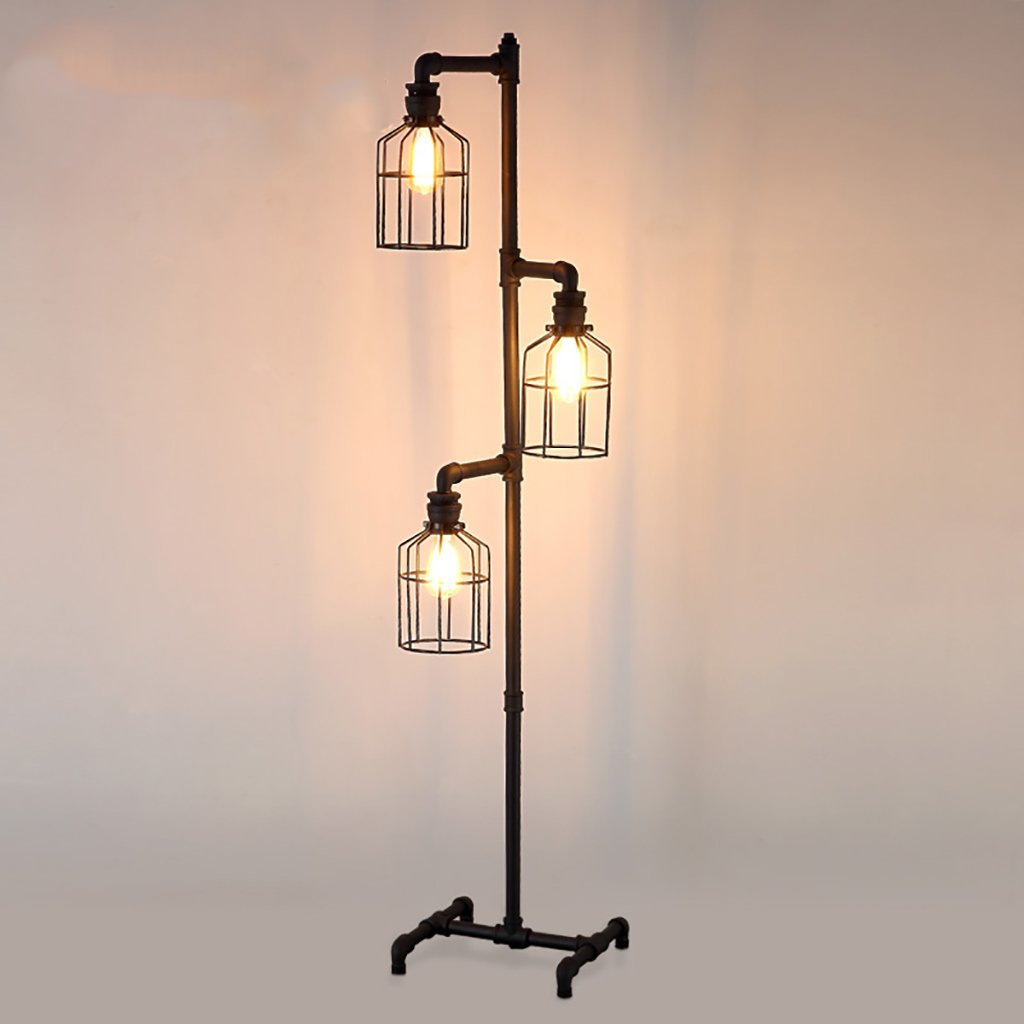 Amazon.com: Floor Lamp loft Living Room Retro Industrial ...