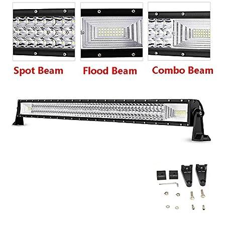 22 Pulgadas 120 W Led Off Road Light Bar para 4 X 4 Tractor de Camiones Atv Cree Chips Combo Spot Inundaci/ón Beam Trabajo L/ámpara