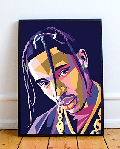 bc9b320ab820 Amazon.com: Travis Scott Limited Poster Artwork - Professional Wall ...