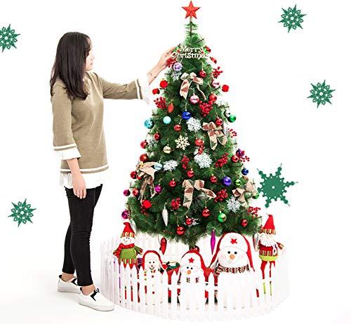 KELE Cifrado Arbol De Navidad Madera Árbol De Abeto, 7 Pies De Lujo Adorno Soporte Plegable El Montaje Fácil Árbol De...
