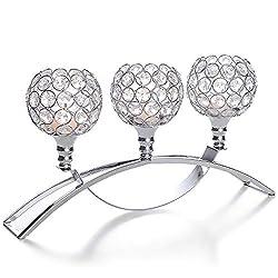 Premium Sliver Crystal Candle Holders