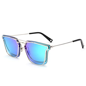 Cool doble marcos de Metal gafas de sol efecto espejo ...