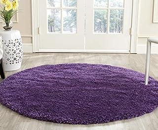Safavieh Milan Shag Collection SG180-7373 Purple Round Area Rug (3' Diameter) (B01GS3O07Q) | Amazon price tracker / tracking, Amazon price history charts, Amazon price watches, Amazon price drop alerts