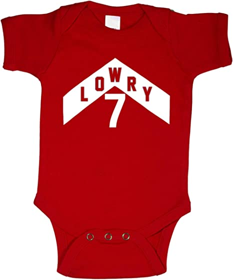 finest selection b2dca feb9c Amazon.com: RED Toronto Lowry The North Jersey Logo Baby 1 ...