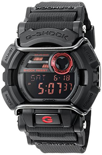 (Casio Men's G-Shock GD400-1CR Black Resin Sport Watch )