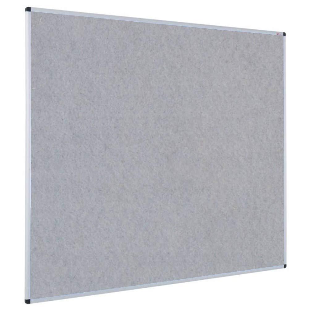 VIZ-PRO Notice Board Felt Gray, 36 X 24 Inches, Silver Aluminium Frame by VIZ-PRO