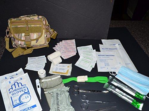 Acid Tactical IFAK 60+ Piece First Aid Molle Bag Medical Pouch Molle Multi-Camo Multicam