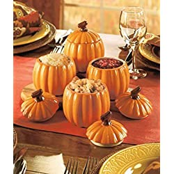 Thanksgiving Side Dishes Set of 4 Pumpkin by Act collection