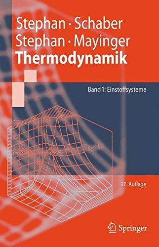 Thermodynamik  Grundlagen Und Technische Anwendungen Band 1  Einstoffsysteme  Springer Lehrbuch