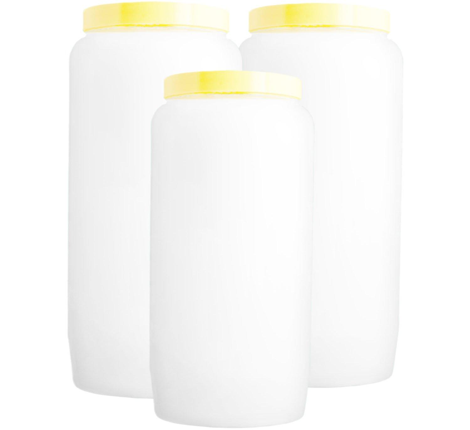 3 grandes bougies 100% végétale / 6 jours - BLANCHE Spaas
