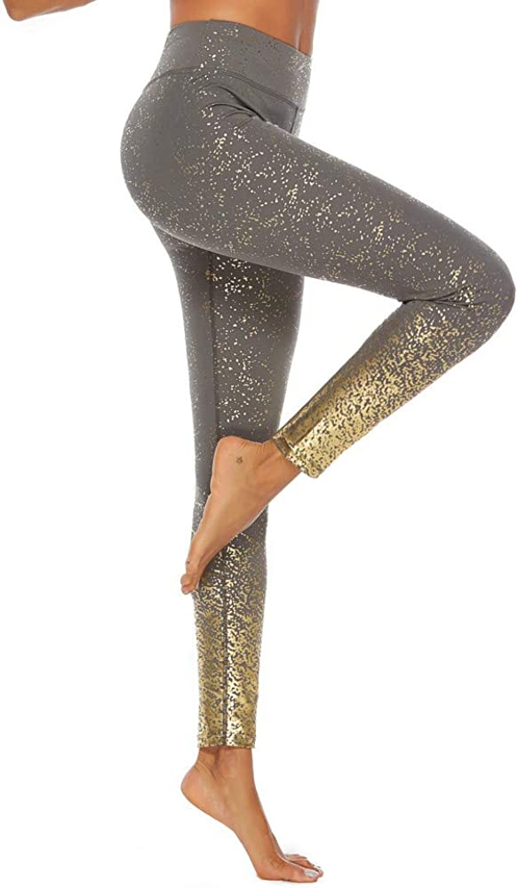 COPPEN Women Athletic Pants Workout Hot Stamping Print Leggings Fitness Sport Yoga
