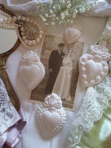Segnaposto Matrimonio Gesso.Bomboniera Matrimonio Cuore Sacro Ex Voto Gesso Profumato O No
