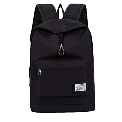 Cinhent Backpacks Men Youth Computer Campus Junior High School Student Bag  (Black) d087ac88fdd27
