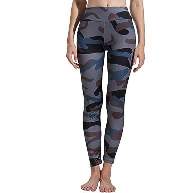 VPASS Mujer Pantalones, Elásticos Impresión Pantalones de Yoga de ...