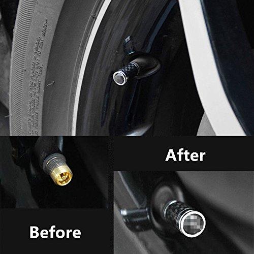 Carbon Fiber Car Tire Air Valve Caps Stem Cover For BMW Emblem Decoration (B) by Cavler (Image #5)