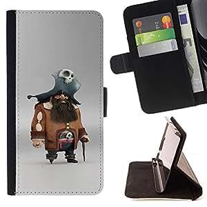 Ihec-Tech / Negro Flip PU Cuero Cover Case para LG G3 - Caractère Jeu Pc capitaine