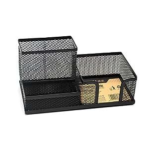 TEN-WIN Multi-functional Mesh Desktop Organizer Storage Caddy Pen Holder Stand Stationery Container