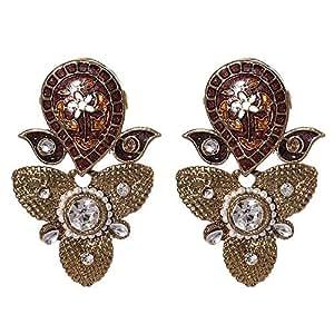 Mela Western Earring, Push Closure