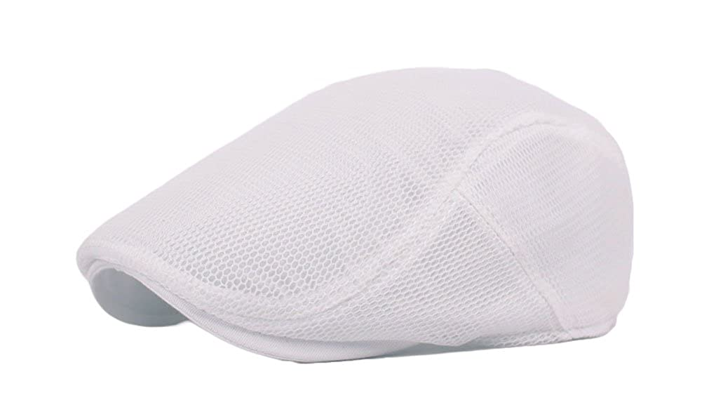 Roffatide Unisex Breathable Mesh Newsboy Cap Summer Flat Ivy Gatsby Driving Hat