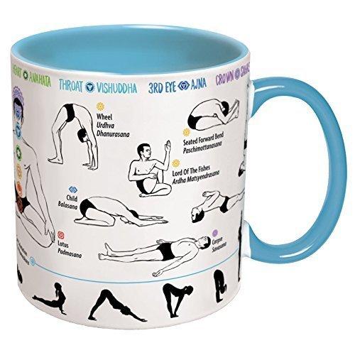 How To Do Yoga Mug - Includes Yoga Mat Coaster - Shows Yoga ...