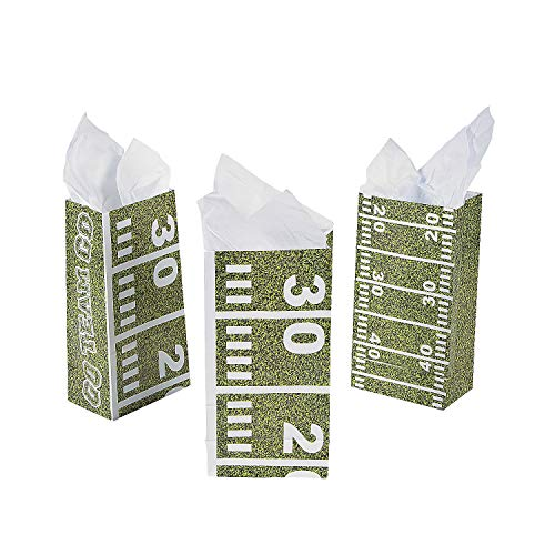 Football Field Treat Bags (One Dozen) Party Supplies/Tailgating/TreatBags/Party Favors -