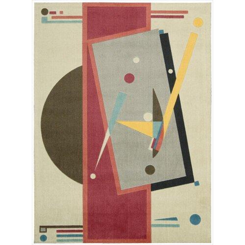 - Nourison Modern Art (MDR03) Sandstone Rectangle Area Rug, 4-Feet by 6-Feet  (4' x 6')