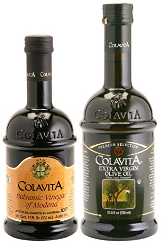 Colavita Extra Virgin Olive Oil and Balsamic Vinegar of Modena, 42.5 Ounce (New American Olive Oil)