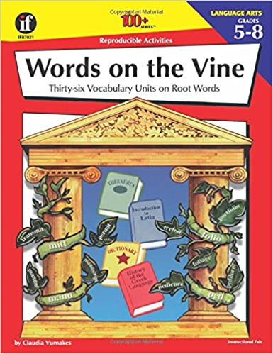 Amazon.com: Words on the Vine, Grades 5 - 8: 36 Vocabulary Units ...