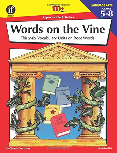 Amazon.com: Words on the Vine, Grades 5 - 8: 36 Vocabulary Units ...