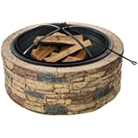 Ebay.com deals on Sun Joe 35-Inch Cast Stone Base Fire Pit