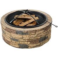 Deals on Sun Joe 35-Inch Cast Stone Base Fire Pit