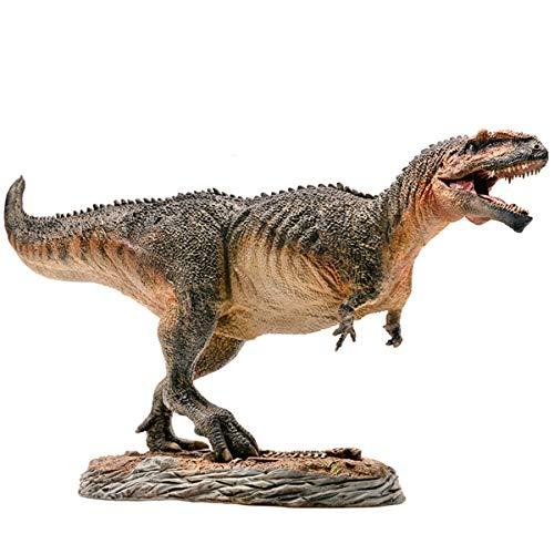 PNSO 1/35 サイズ ギガノトサウルス ジュラシック 大きい 肉食 恐竜 リアル フィギュア PVC プラモデル おもちゃ 科学 芸術 模型 プレゼント プレミアム 37cm級 ベース付き オリジナルBOX 塗装済 口開閉可能