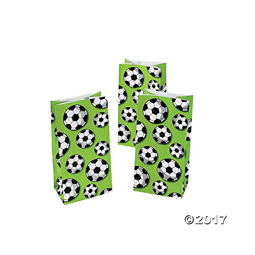 Soccer Treat Bags - 12 ct - Oriental Soccer Ball