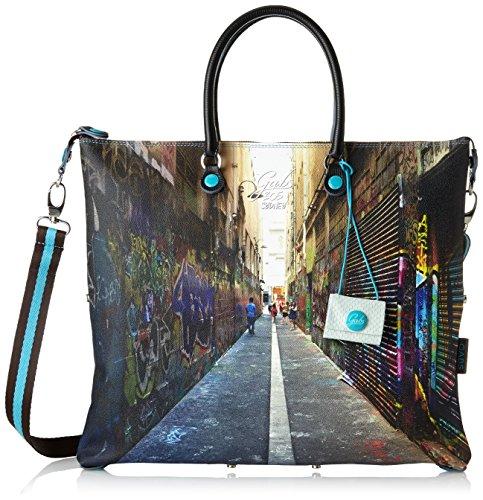 GABS G3 Tg L - Piatta Trasformabile Studio Print, Borsa Donna Multicolore (305 - Sidney)
