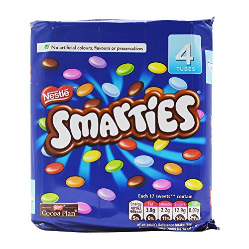 Nestle Smarties 4 Tube Pack Pouch, 152 g
