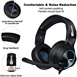 NUBWO Gaming Headset for Xbox One PS4 PC Gaming and