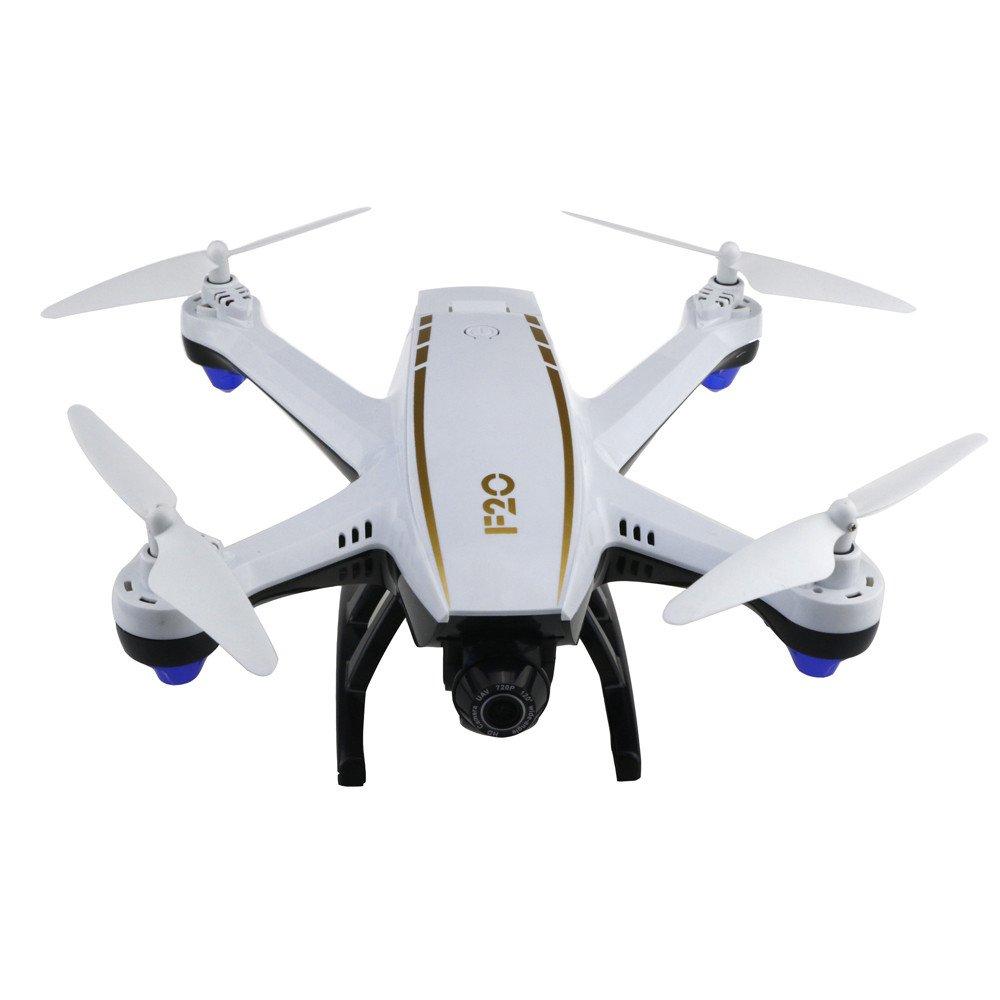EIN QinMM FPV RC F20 Drohne mit 2.0MP optischem Fluss Dual Weitwinkel-HD-Kamera, Quadcopter mit Wi-Fi-Training, Höhenlage, 2,4 GHz Intelligente Batterie Lange Reichweite für Anfänger
