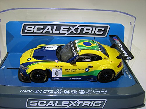 Scalextric C3721 BMW Z4 GT3 Blancpain Series Brands Hatch 2015 Slot Car (1:32 Scale)