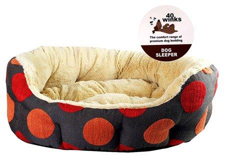 40 Winks Lujo Ovalada Sleeper 28 pulgadas Especias Dotty camas para perros mascotas duermen 5025659030609: Amazon.es: Productos para mascotas