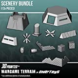 Scenery Bundle, Terrain Scenery for Tabletop 28mm Miniatures Wargame, 3D Printed and Paintable, EnderToys