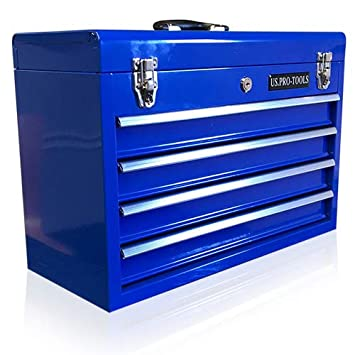 Us Pro Tools Coffre A Outils 4 Tiroirs Portable Bleu Amazon Fr