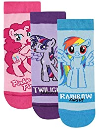 My Little Pony Girls' Rainbow Dash Twilight Sparkle Pinkie Pie Socks Pack of 3