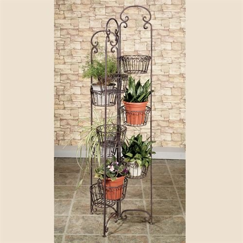 Olivia Wong's Zaria Plant Stand Tuscan Slate by Olivia Wong's