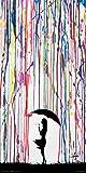 (US) Culturenik Marc Allante Girl Blowing Dandelion Under Umbrella Paint Rain Modern Contemporary Decorative Art Print (Unframed 12x24 Poster)