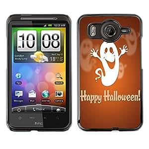 - Halloween - - Monedero pared Design Premium cuero del tir¨®n magn¨¦tico delgado del caso de la cubierta pata de ca FOR HTC Desire G10 A9191 Funny House