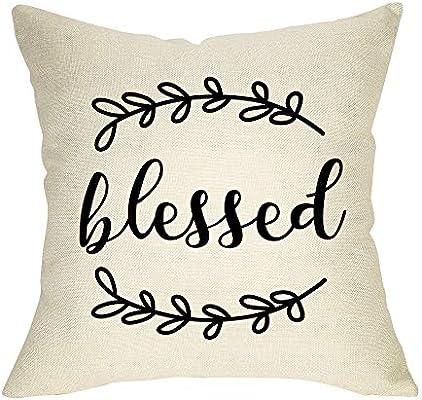 Amazon.com: Softxpp - Funda de almohada rústica con diseño ...