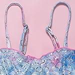 Geagodelia-Costume-da-Bagno-Bambina-7-15-Anni-Bikini-Sirena-2-Pezzi-Ragazza-Top-con-Bretelle-Mutande-a-Triangolo-per-Mare-Bagno-Spiaggia